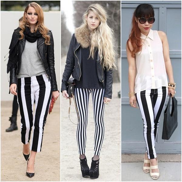 Çizgili Pantolon modelleri