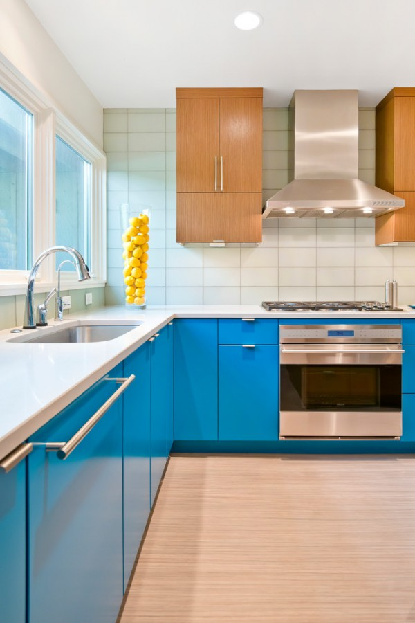 Mavi Renkte Mutfak