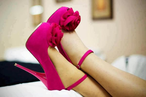 Pembe Abiye Ayakkabı